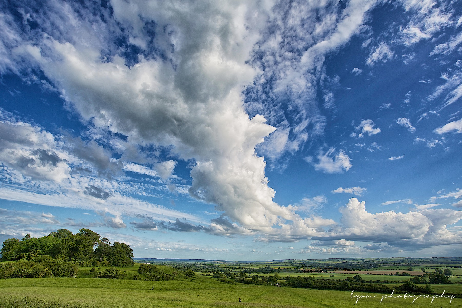 View towards Brightwell-cum-Sotwell, from the Wittenham Clumps 08-06-14