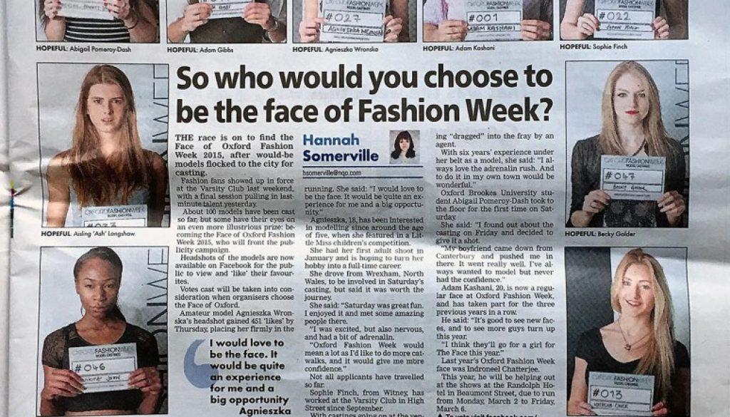 Oxford Mail - Oxford Fashion Week - James Alexander Lyon